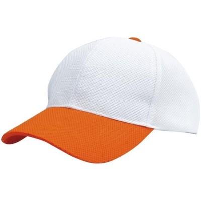 ボンマックス カジュアル ブリーズキャップ(2トーン)MC6620 17 ホワイト/オレンジ ボウシ(mc6620-13)
