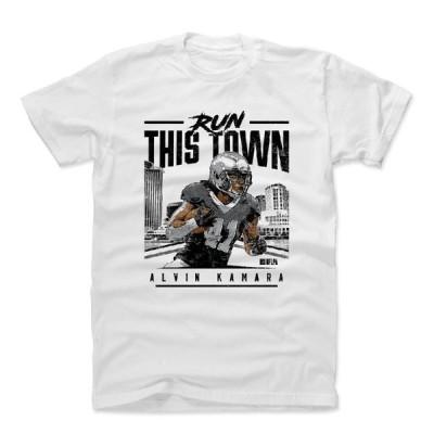 NFL Tシャツ アルバン・カマラ セインツ Run This Town K T-Shirts 500LEVEL ホワイト