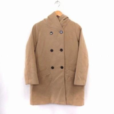 【中古】レディラックルカ LADY LUCK LUCA コート アウター フードコート ポケット シンプル ブラウン /ST31