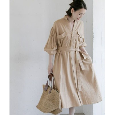 URBAN RESEARCH ROSSO/アーバンリサーチ ロッソ リネンワンピース L/TAUPE FREE