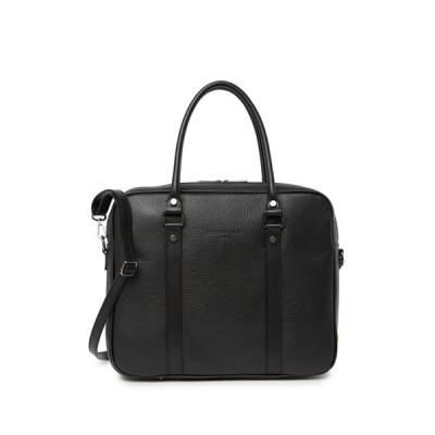 クリスティアンロウリエール レディース ハンドバッグ バッグ Luc Large Pebbled Leather Shoulder Bag BLACK