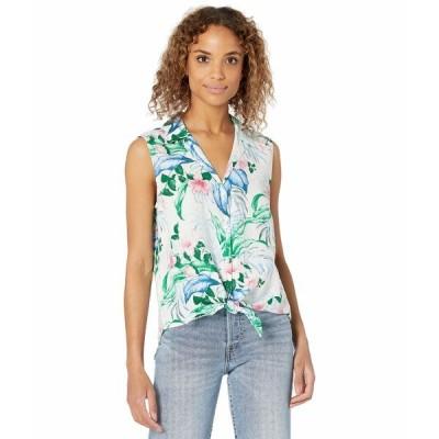 トッミーバハマ シャツ トップス レディース Flora Frond Camp Shirt Sleeveless White