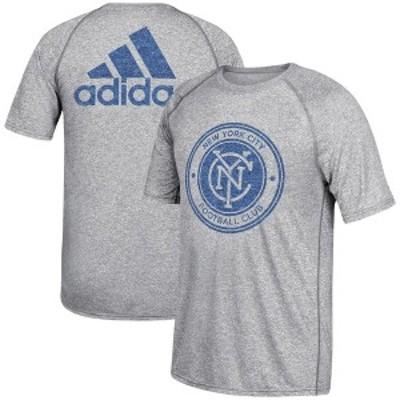 アディダス メンズ Tシャツ トップス New York City FC adidas Fabrication Ultimate Performance T-Shirt- Gray -