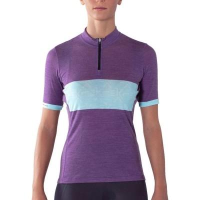 カンパニョーロ Campagnolo レディース 自転車 トップス Lusaan Wool Short-Sleeve Jersey Violet/Light Green