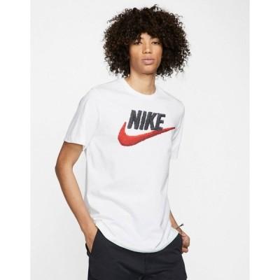 ナイキ メンズ Tシャツ トップス Nike brand mark t-shirt in white White