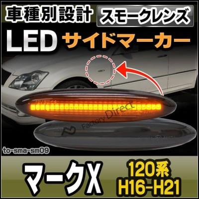 ll-to-sma-sm09 スモークレンズ MARK X マークエックス(120系 H16.11-H21.09 2004.11-2009.09) LEDサイドマーカー LEDウインカー 純正交換 トヨタ レスサス( サ