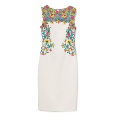 【TADASHI SHOJI】ガーデン刺繍ミディアムドレス