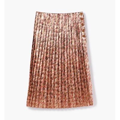 【トゥモローランド/TOMORROWLAND】 メタルラメプリント プリーツスカート