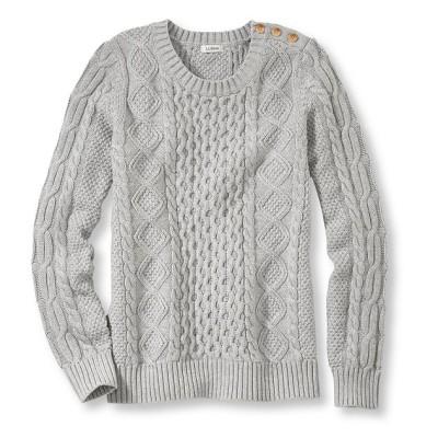 コーブサイド・セーター、ケーブル編みのプルオーバー