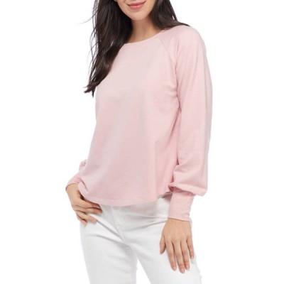 クラウン&アイビー レディース パーカー・スウェット アウター Women's Long Blouson Sleeve Pullover