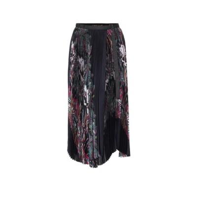 サカイ Sacai レディース スカート printed asymmetric pleated skirt Multi