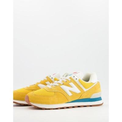 ニューバランス New Balance メンズ スニーカー シューズ・靴 574 Trainers In Yellow イエロー