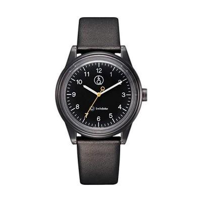 シチズン Q&Q 腕時計 アナログ スマイルソーラー リンクコーデ 防水 革ベルト RP26-006 メンズ ブラック