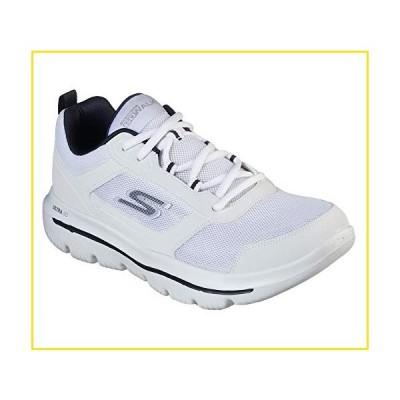 新品Skechers Men's GO Walk Evolution Ultra-Enhance Shoe, White/Navy, 7 Extra Wide US並行輸入品