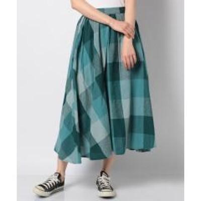 SM2(サマンサモスモス)【SM2】リネン混柄アソートフレアスカート