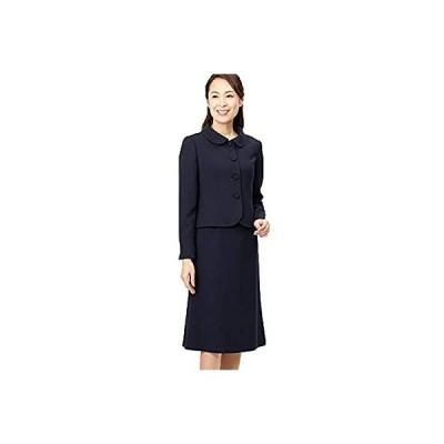 Rifanne リファンネ (東京ソワール) お受験スーツ ショールカラー ワンピース&ジャケット レディース 紺 7803110 15号