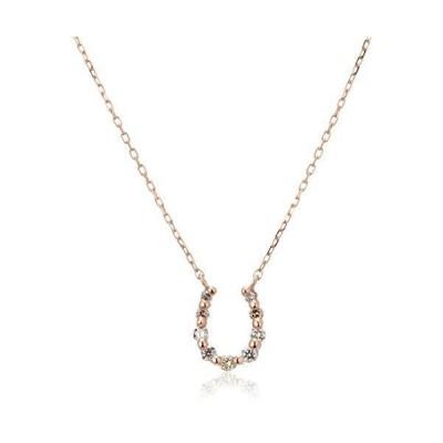 [VAヴァンドーム青山] VA VENDOME AOYAMA K18PG ダイヤモンド 0.06ct 馬蹄 ホースシュー ネックレス GGA