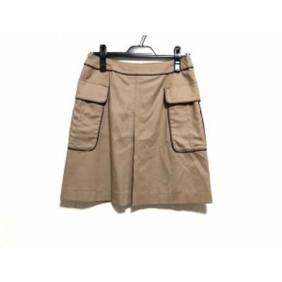 トゥモローランド TOMORROWLAND スカート サイズ36 S レディース ベージュ×ダークブラウン【中古】