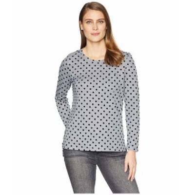 トリバル レディース シャツ トップス Long Sleeve T-Shirt with Pocket Grey Mix