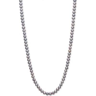 """メイシーズ Macy's ユニセックス ネックレス ジュエリー・アクセサリー Dyed Gray Cultured Freshwater Pearl (5mm) 100"""" Endless Strand Necklace Grey"""