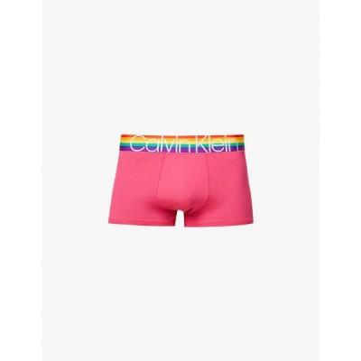 カルバンクライン CALVIN KLEIN メンズ ボクサーパンツ インナー・下着 Pride logo-print low-rise stretch-jersey trunks Chrissie Pink