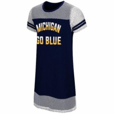 Colosseum コロセウム スポーツ用品  Colosseum Michigan Wolverines Girls Youth Navy/White Dont Be Talking Mesh Dress