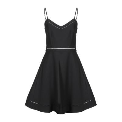 CLAUDIE PIERLOT ミニワンピース&ドレス ブラック 38 コットン 97% / ポリウレタン 3% ミニワンピース&ドレス