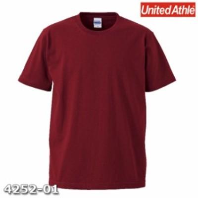 Tシャツ 半袖 メンズ オーセンティック スーパーヘビー 7.1oz L サイズ バーガンディ 無地 ユナイテッドアスレ CAB