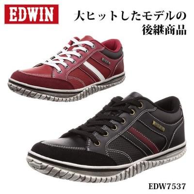 エドウィン メンズ スニーカー EDW7537 カジュアル デイリー ヴィンテージ感 EDWIN 靴