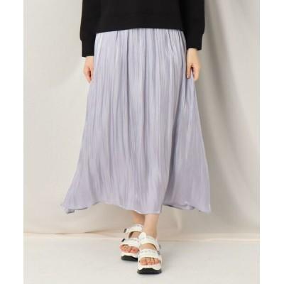 Couture Brooch/クチュールブローチ オーロラサテンギャザースカート サックス(090) 38(M)