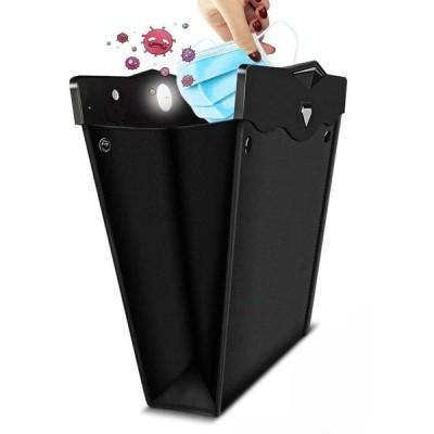 車用ゴミ箱 車載ごみ箱 改良版 車用収納ケース シートバックポケット 後部座席収納 車用小物入れ マグネット LEDライト 蓋つき PUレザー製 折り畳み式