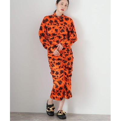 レディース ジャーナルスタンダード レサージュ 【GANNI/ガニー】Silk Stretch Satin dress:ワンピース レッド 36