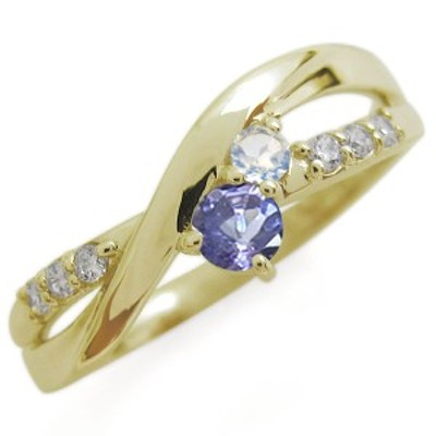 K18 タンザナイト リング シンプル エレガント 指輪
