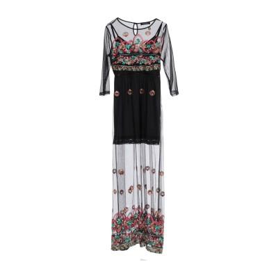 MANGANO ロングワンピース&ドレス ブラック S レーヨン 70% / ポリエステル 30% ロングワンピース&ドレス