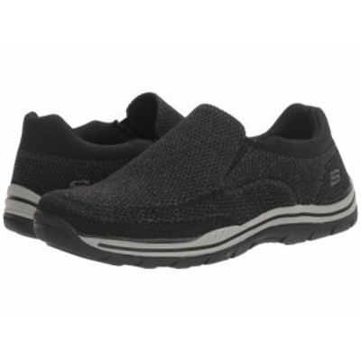 SKECHERS スケッチャーズ メンズ 男性用 シューズ 靴 ローファー Relaxed Fit Expected Gomel Black Knitted Mesh【送料無料】