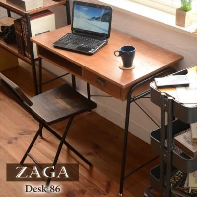 パソコンデスク 木製 PCデスク 書斎 デスク おしゃれ 86cm幅 モダン つくえ 机 オフィス家具 システムデスク