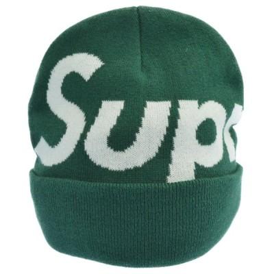 SUPREME(シュプリーム)18AW Big Logo Beanie ビッグロゴビーニー ニット帽 グリーン