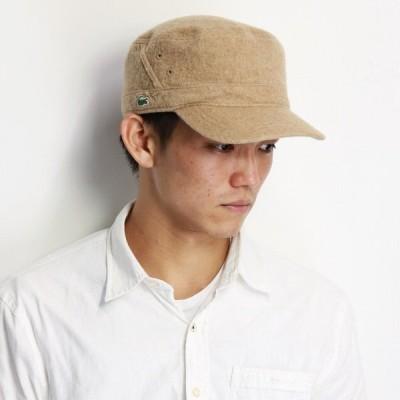 lacoste 刺繍 カジュアル メンズ ウール ドゴール キャップ ラコステ レディース 帽子 ワークキャップ ワニ ワンポイント ベージュ
