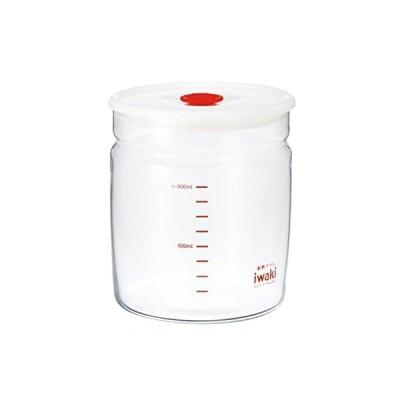 iwaki(イワキ) 耐熱ガラス 密閉容器 キャニスター 径12.4×高さ13.7cm 1L KT7002MP-R フタをしたまま電子レンジ使用可