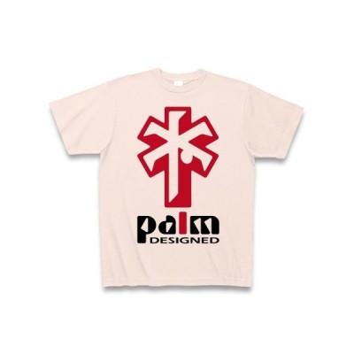 ヤシの木デザイン(赤) Tシャツ(ライトピンク)