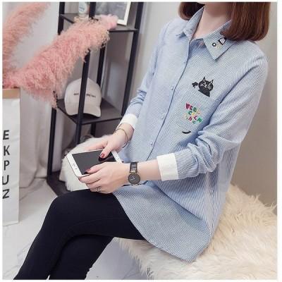 大きいサイズL-4XL ファッション 人気ワイシャツ ブラック ブルー2色展開