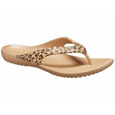 crocs クロックス レディース 女性用 シューズ 靴 サンダル Kadee Flip-Flop Leopard/Gold【送料無料】