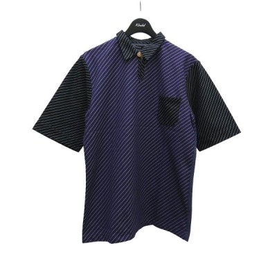 FRANK LEDER バイアス半袖プルオーバー ネイビー サイズ:M (堅田店) 210602