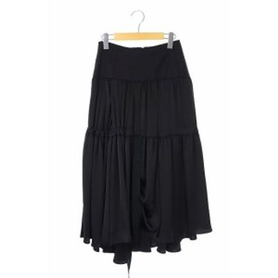 【中古】ケイシラハタ kei shirahata Styling 20SS String Dress Skirt ティアードスカート フレア ロング 0 黒