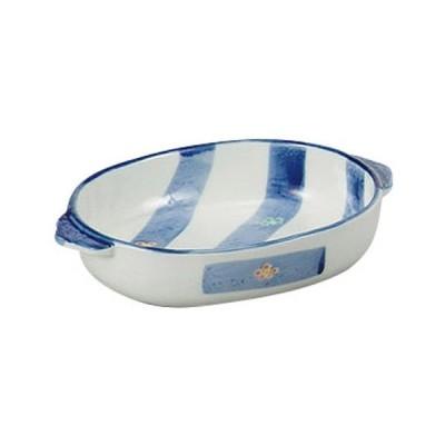 洋食器 洋陶 / 帯梅グラタン (I) 寸法: 18.5 x 12.7 x 3.8cm