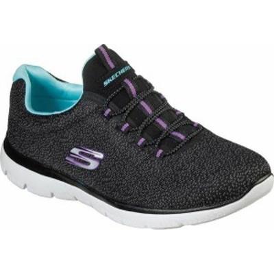 スケッチャーズ レディース スニーカー シューズ Summits Fresh Take Sneaker Black/Light Blue