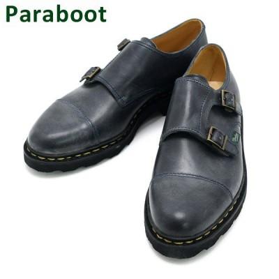 パラブーツ ウィリアム ネイビー 981409 Paraboot WILLIAM NOIRE メンズ ダブルモンク シューズ 靴 9814-09