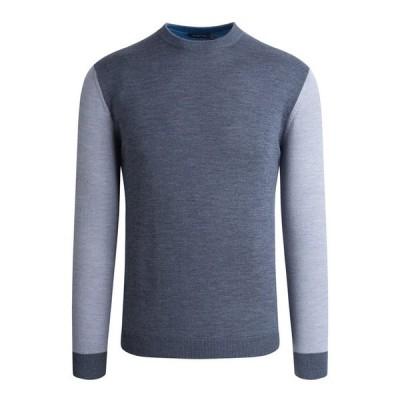 ブガッチ メンズ ニット・セーター アウター Men's Colorblock Long-Sleeve Sweater