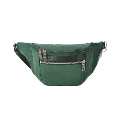 【カバンのセレクション】 アッソブ ウエストバッグ ファニーパック メンズ レディース ブランド ミニ 小さめ 横型 AS2OV SHRINK NYLON 091705 ユニセックス グリーン フリー Bag&Luggage SELECTION