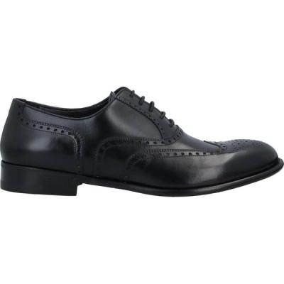 ア テストーニ A.TESTONI メンズ 革靴・ビジネスシューズ シューズ・靴 Laced Shoes Black